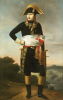 Portrait Of Napoleon, Standing Full Length, A Military Camp Beyond by French School