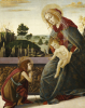 The Madonna And Child With The Young Saint John The Baptist In A Landscape by Sandro Botticelli