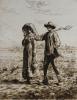 Le Depart Pour La Travail, 1863 by Jean Francois Millet