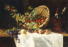 Cherries And Gooseberries In A Basket, 1859 by Gertrud Trefftz