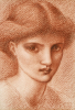 Study Of A Girl's Head by Sir Edward Burne-Jones