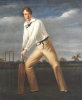 A Cricketer At The Crease by English School