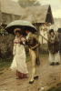 A Wet Sunday Morning, 1896 by Edmund Blair Leighton