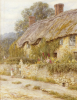 Cottage Near Wells, Somerset by Helen Allingham