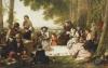 A Picnic, 1857 by Henry Nelson O'Neil