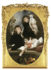 Portait Of Ida, Adrian And Frederic Marryat by Lord Frederic Leighton