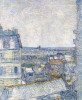 View From The Artist's Window, Rue Lapic by Vincent Van Gogh