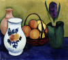 The White Jug With Flower And Fruit by August Macke