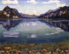 Thunersee With Reflection by Ferdinand Hodler