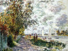 La Berge Du Petit-Gennevilliers by Claude Monet