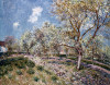 Springtime At Veneux by Alfred Sisley