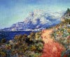 The Red Road Near Menton by Claude Monet