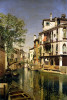 A Canal Scene In Venice by Martin Rico Y Ortega