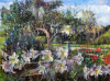 Kitchen Garden with Lilies and Apple Trees by Anne Rea