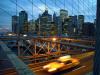 New York's Brooklyn Bridge at twilight by Wayne Williams