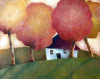 Cottage under Autumn Canopy by Jeremy Mayes