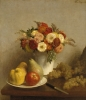 Flowers and Fruit, 1865 by Ignace-Henri-Théodore Fantin-Latour