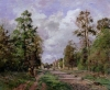 The Road to Louveciennes at the edge of the Wood, 1871 by Camille Pissarro