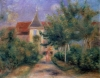 Renoir's house at Essoyes, 1906 by Pierre Auguste Renoir