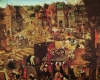 Kermesse with Theatre and Procession by Pieter Brueghel The Younger