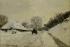 The Cart or Road under Snow at Honfleur 1867 by Claude Monet