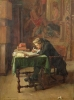 Young Man Writing 1852 by Jean-Louis Ernest Meissonier