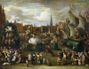 A Festival at Antwerp by Alexander van Bredael