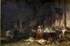 Interior of an Alchemist's Study by Louis Eugene Gabriel Isabey