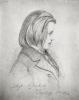 Portrait of Johanes Brahms 1853 by Jean Joseph Bonaventure Laurens