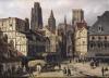 Place de la Haute-Vieille-Tour Rouen 1824 by Guiseppe Canella