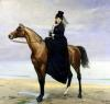 Equestrian Portrait of Mademoiselle Croizette 1873 by Charles Emile Auguste Carolus-Duran