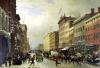 Street Scene in New York by Hippolyte Victor Valentin Sebron