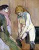 Woman Putting on her Stocking c.1894 by Henri de Toulouse-Lautrec