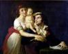 Camille Desmoulins his wife Lucile and Horace-Camille c.1792 by Jacques-Louis David