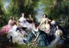 Empress Eugenie Surrounded by her Ladies-in-Waiting 1855 by Franz Xavier Winterhalter
