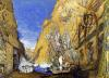 Stage set for the 'Dieu Bleu' by Reynaldo Hahn by Leon Bakst