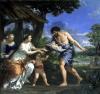 Faustulus entrusting Romulus and Remus to his wife Acca Larentia c.1643 by Pietro da Cortona