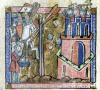 Crusaders bombard Nicaea with heads in 1097 by French School