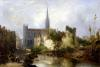 View of the Church of St. Peter Caen 1841 by William Fowler