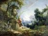 Pastoral Scene or Young Shepherd in a Landscape by Francois Boucher