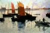 Evening Light at the Port of Camaret by Charles Cottet