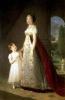 Maria Carolina Bonaparte Queen of Naples with Laetitia Murat 1807 by Marie Elisabeth Louise Vigee-Lebrun