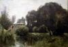 Souvenir of the Villa Borghese 1855 by Jean-Baptiste-Camille Corot