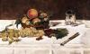 Still Life' Fruit on a Table 1864 by Edouard Manet