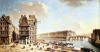 The Ile Saint-Louis from the Place de Greve c.1757 by Nicolas & Jean Baptiste Raguenet