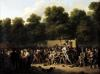 The Distribution of Food and Wine on the Champs-Elysees 1822 by Louis-Leopold Boilly