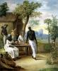 Black Slaves Seated Outside their House in Martinique 1775 by Le Masurier