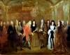 Louis XIV welcomes the Elector of Saxony Frederick Augustus II 1715 by Louis de Silvestre