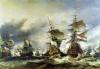 The Battle of Texel 1673 by Louis Eugene Gabriel Isabey