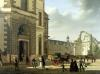 The Entrance to the Musee de Louvre and St. Louis Church 1822 by Etienne Bouhot